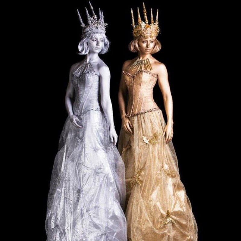 ice queens on stilts. . .