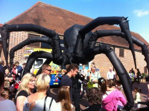 larger than life spider