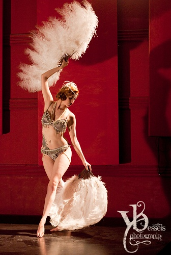 Feather Burlesque Dancer