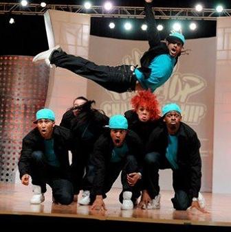 Breakdancing group
