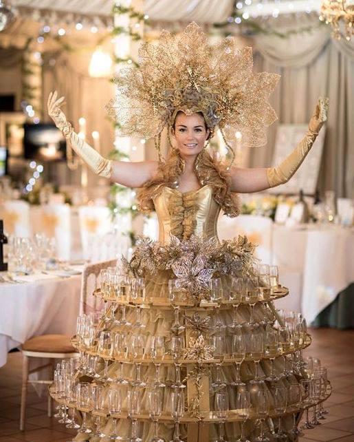 Elegant champagne skirt