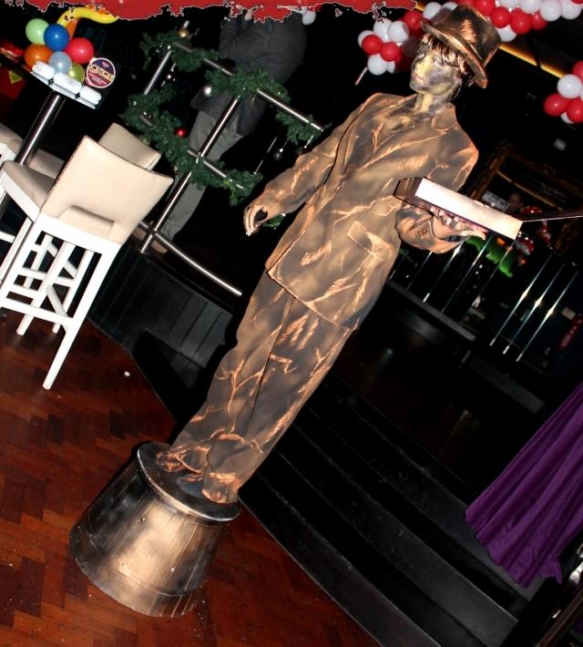 Chocolate style human statue