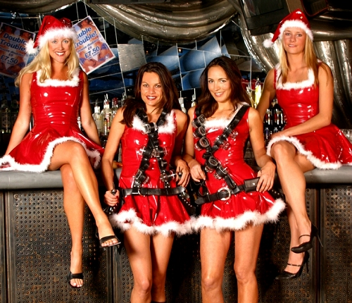 Santa shot girls make great christmas entertainment