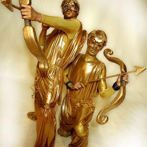 cupid human statues