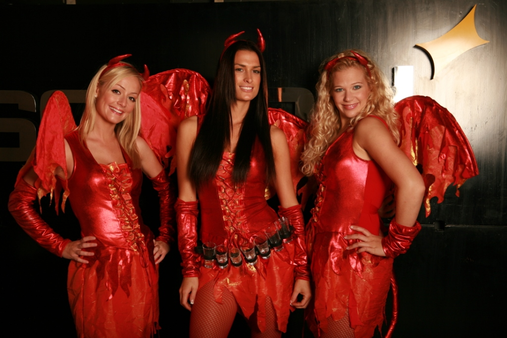 Devil shot girls outfits.