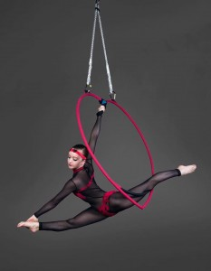 beautiful heart aerial hoop for events