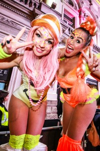 neon style Stilt walkers london based
