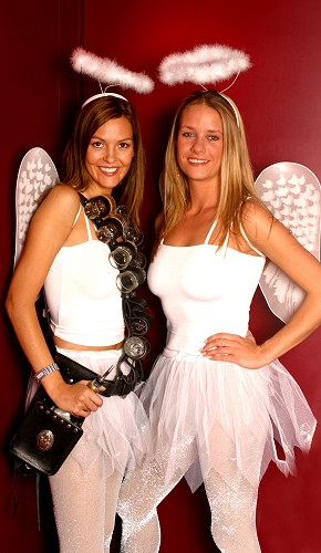 shot girls angel themed to hire