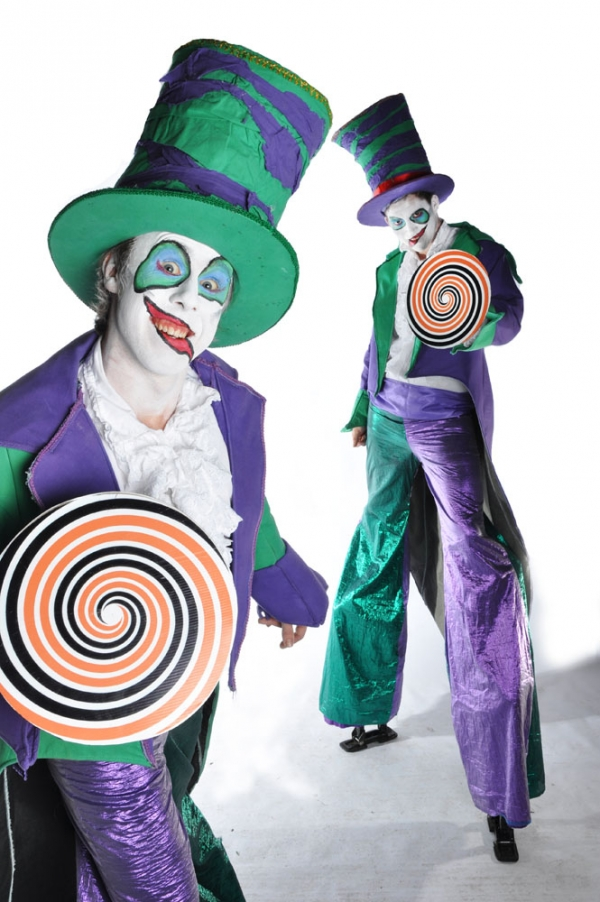 twisted circus stilts by area