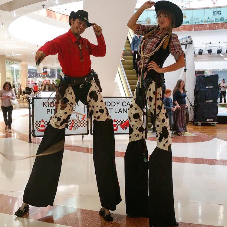 stilt walkers wild west