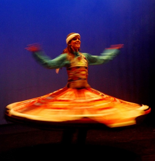 Whirling dancers