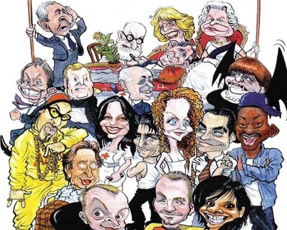 Caricaturists & silhouette