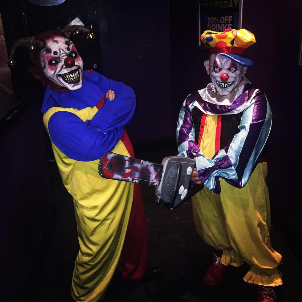 dwarves halloween clown