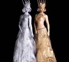 ice queens on stilts. . .