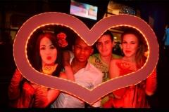 led love heart frame