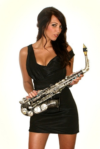 Female sax player for hire