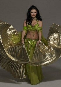 Belly dancers in costume