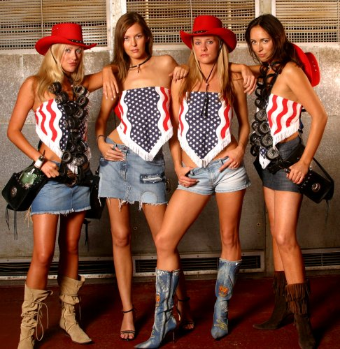 Hire western themed tequila shot girls.