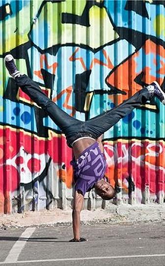 Breakdancer on street