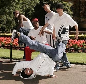 Break Dancers Outside