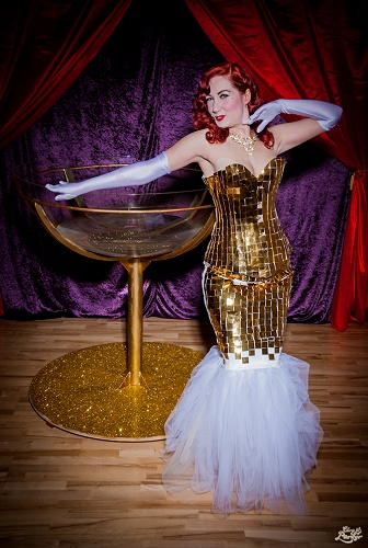 Champagne Burlesque Dancer