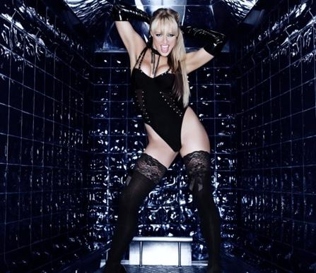 female podium dancer