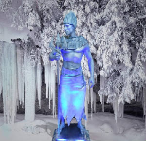 ice statue by (statue man)....