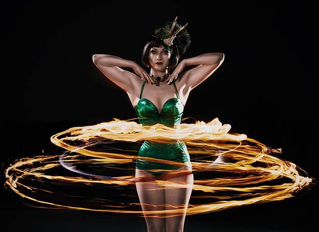 pippa fire hula hoop