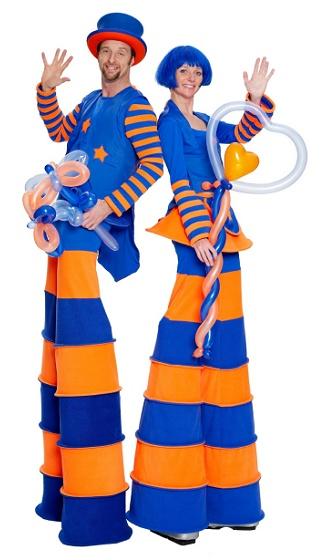 Balloonists on Stilts