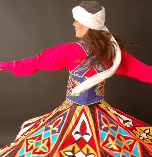 Whirling dance act
