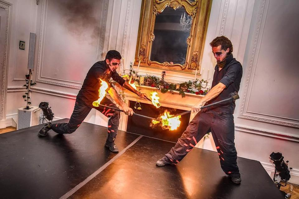 HALLOWEEN FIRE SHOWS