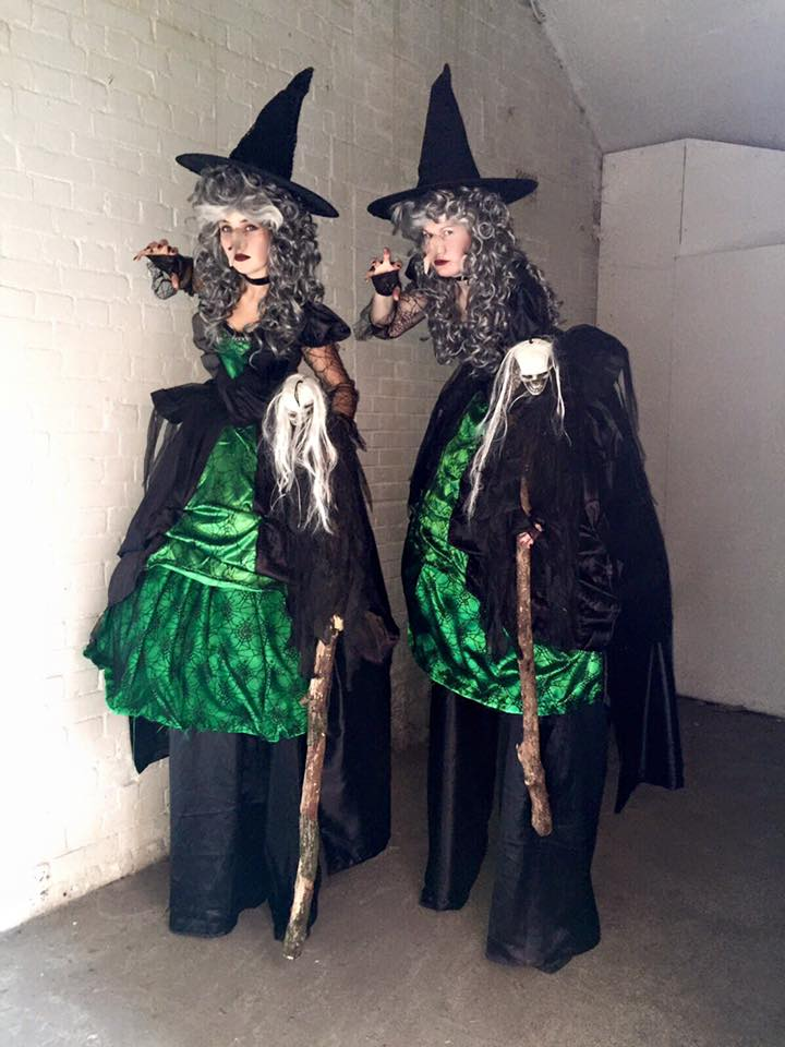 witches on stilts for halloween