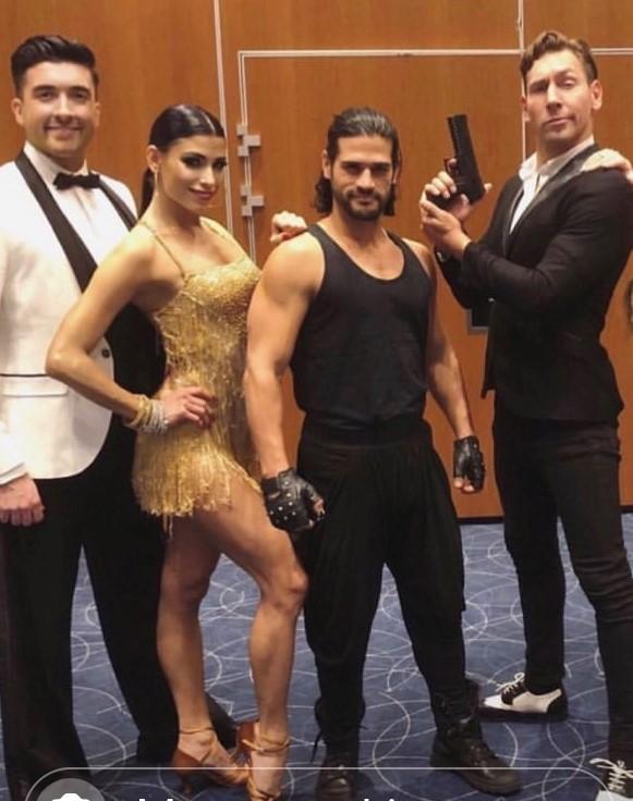 Bond show dancers